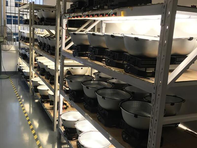 news-XJ-HBS Series High bays , XJ-FLA-2 series flood lights being installed at the Pirelli Tire Fac