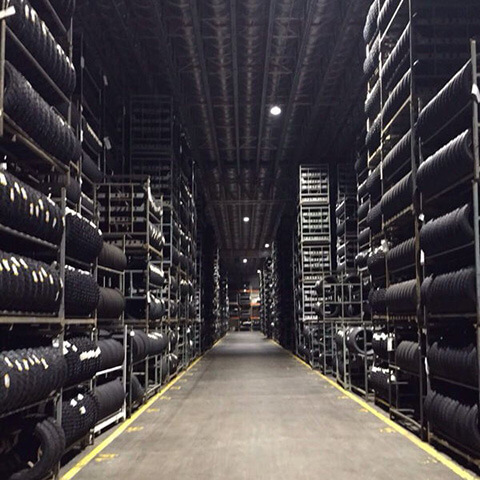news-XJ-HBS Series High bays , XJ-FLA-2 series flood lights being installed at the Pirelli Tire Fac-2