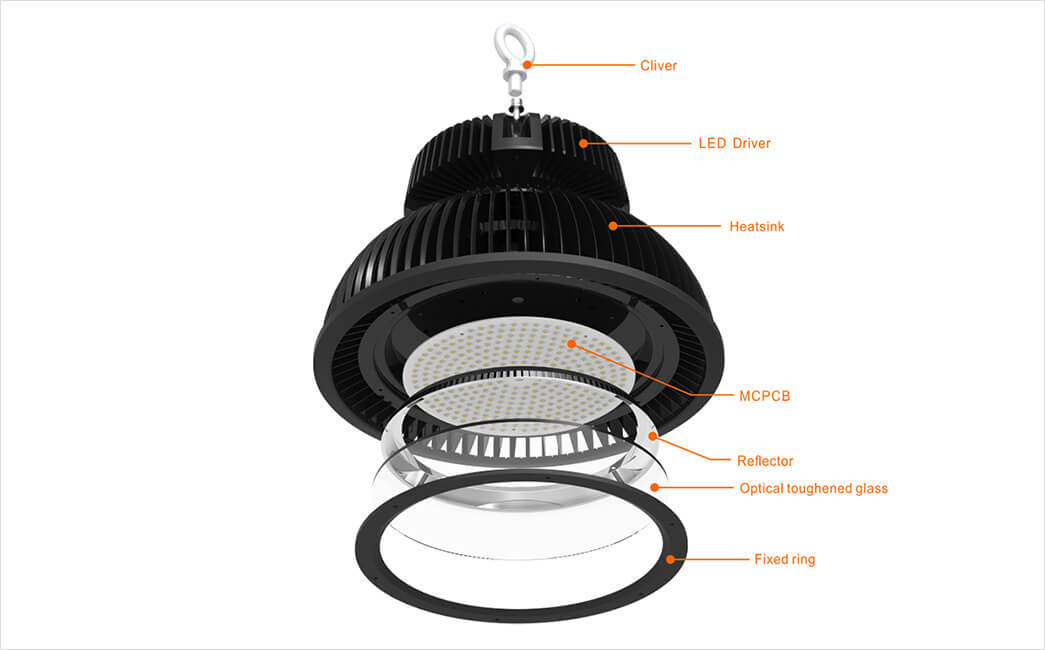 with higher efficiency t8 led high bay reflectors Suppliers for warehouses-11