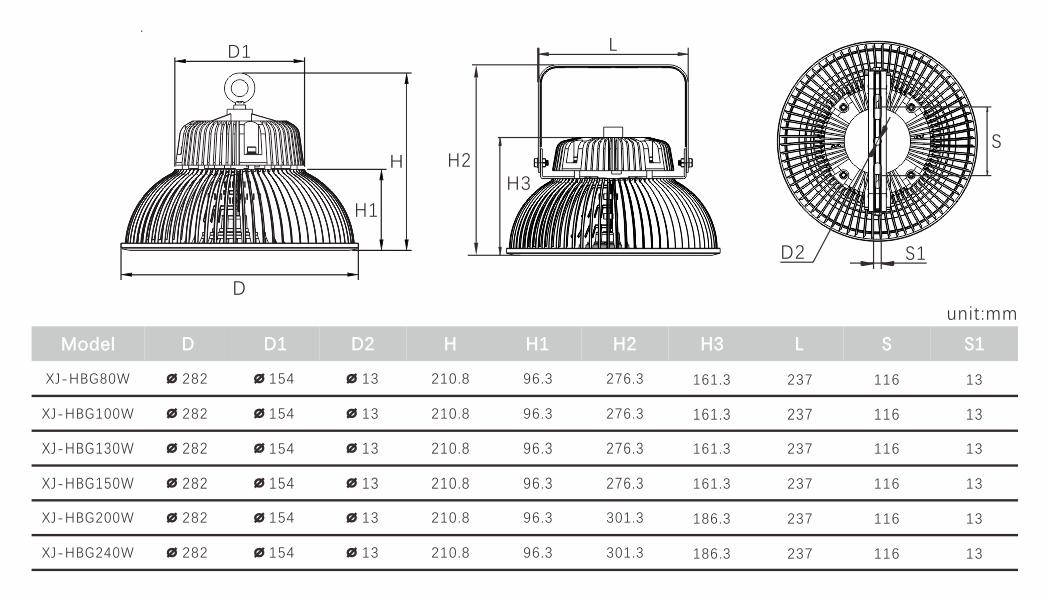 SEEKING series 50w led high bay light Suppliers for warehouses