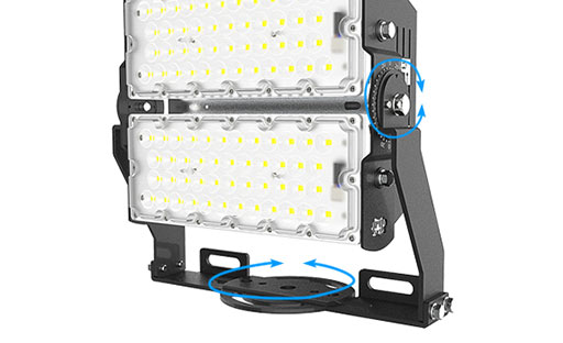 SEEKING rotatable commercial led flood lights with a clear scale table for lighting spectator-3